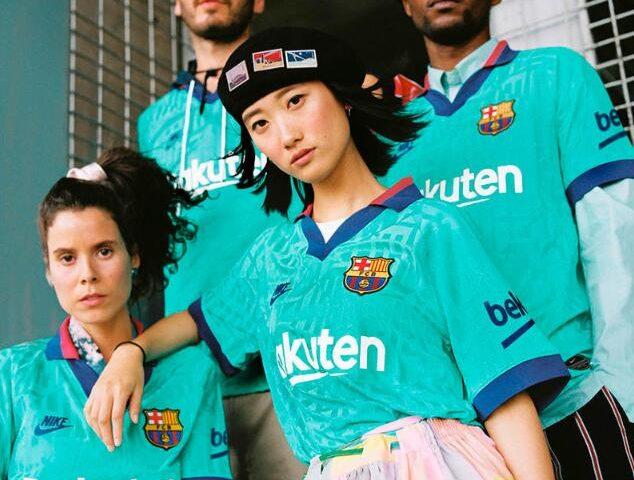 Replica camiseta de futbol Barcelona barata 2019 2020 Tercera