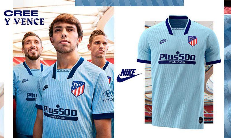 Replica camiseta de futbol Atletico Madrid barata 2019 2020 Tercera