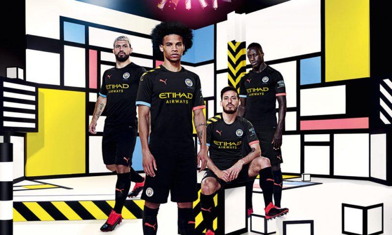 Replica camiseta de futbol Manchester City barata 2019 2020 Segunda