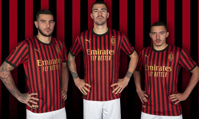 Replica camiseta de futbol AC Milan barata 120 Years