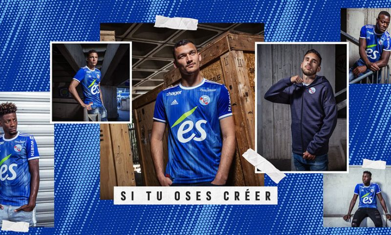 Replica camiseta de futbol Strasbourg barata 2019 2020