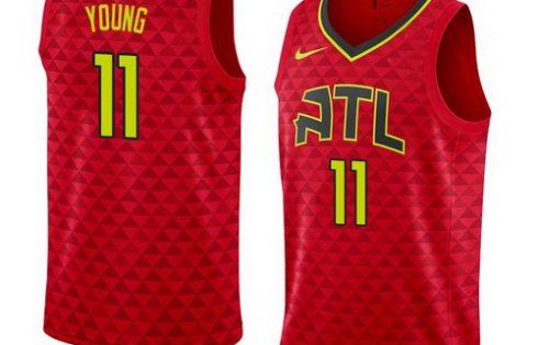 Camiseta Atlanta Hawks Trae Young NO 11 Statement 2017-18 Rojo